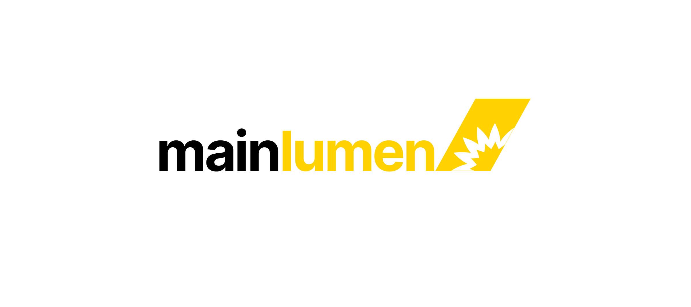 Beispiel eines Logos. Mainlumen ist ein fiktives Unternehmen.