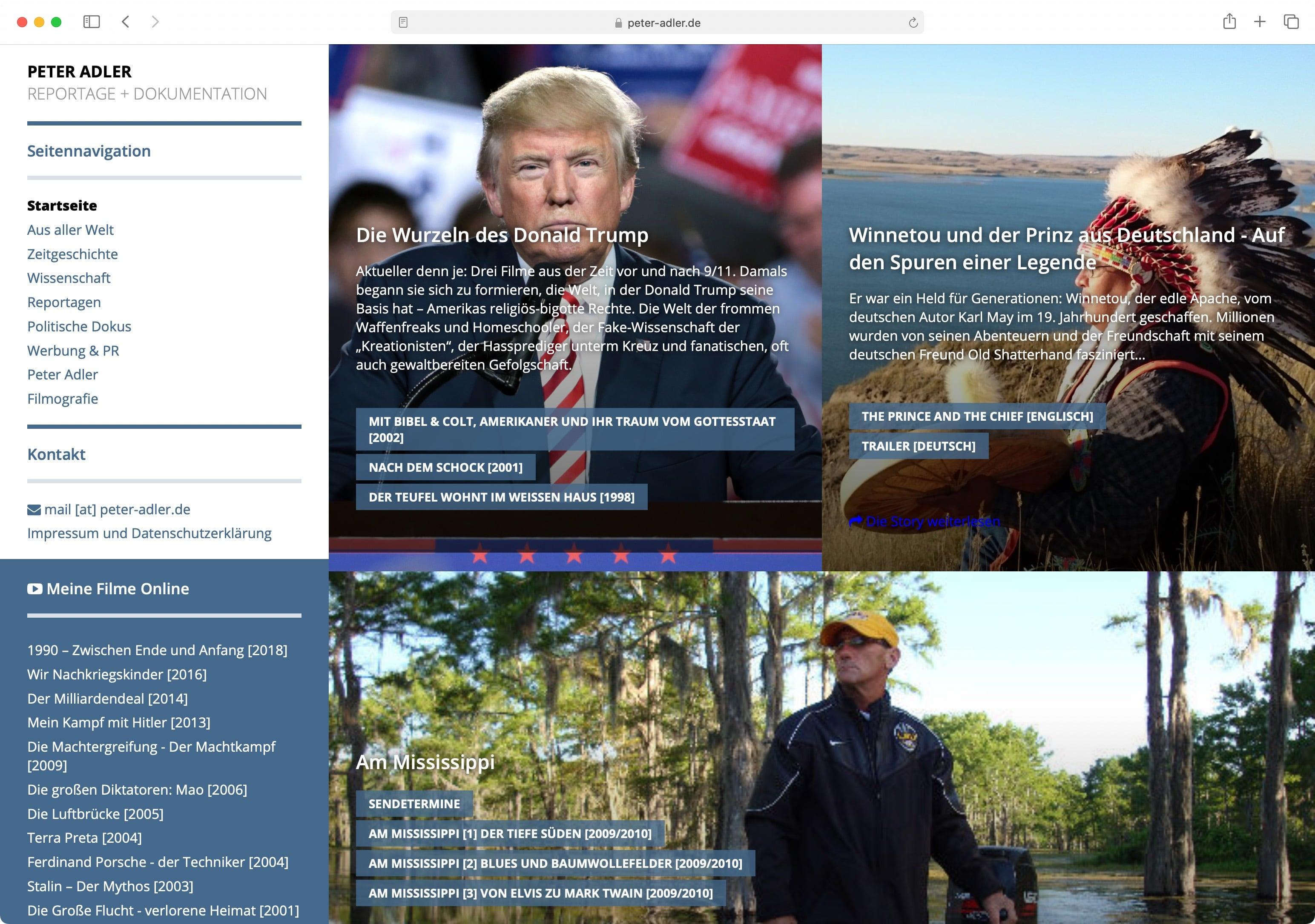 Die neue Website die seit 2015 online ist