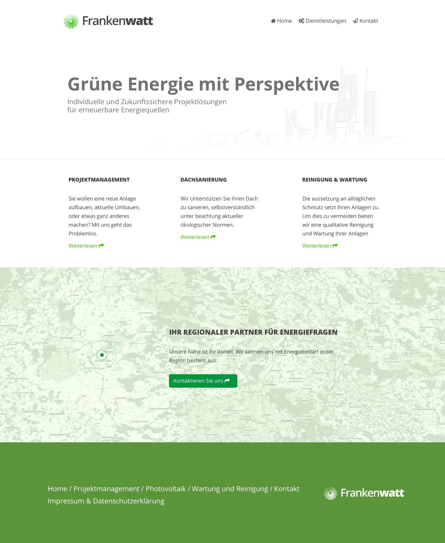 Ein Entwurf für eine Website (in Grafikform)