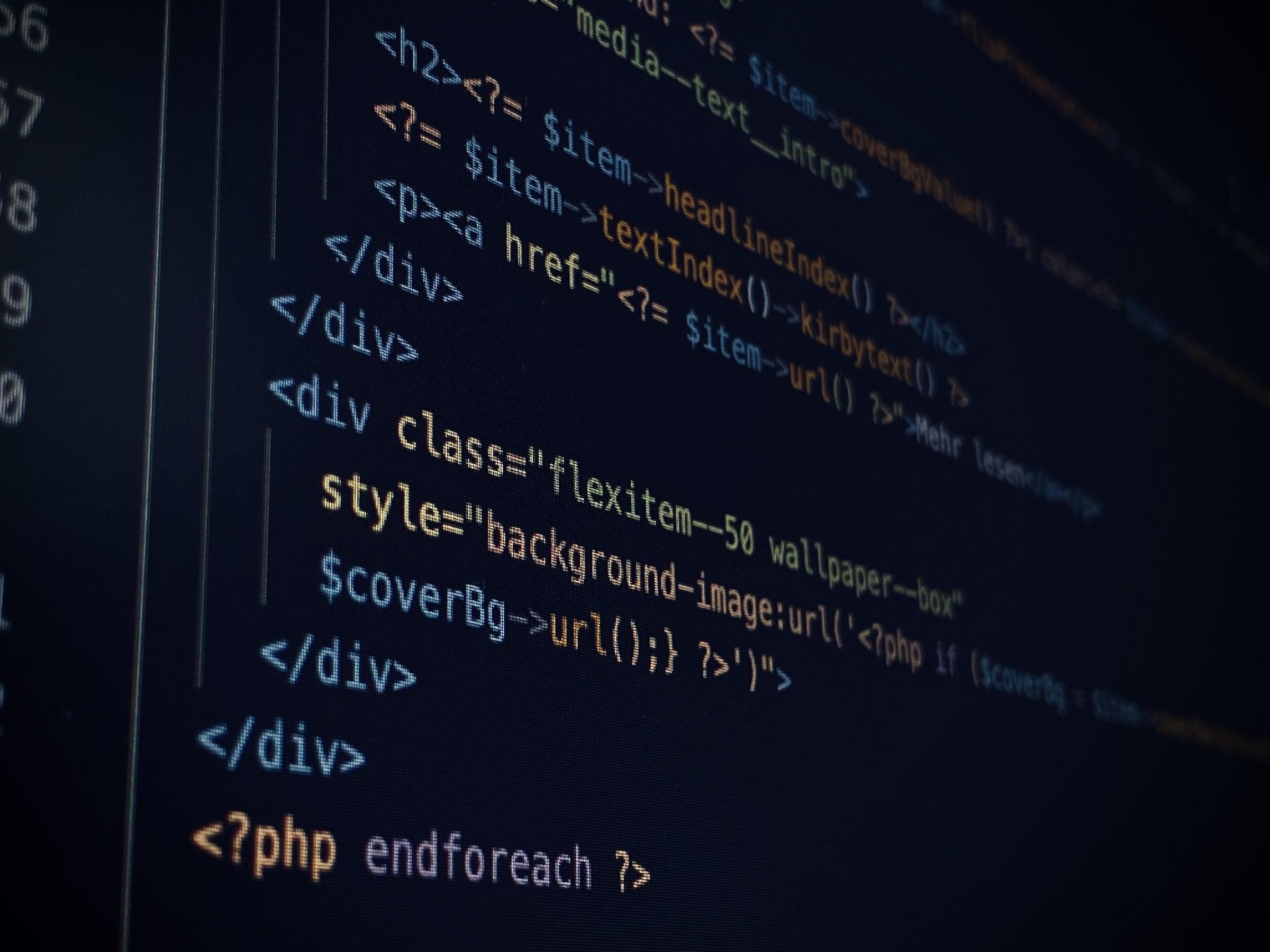 Der Code einer Website